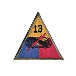 patch of 13th US Armored Division - repro