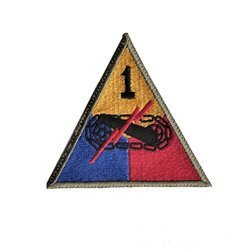 patch of 1st US Armored Division - repro
