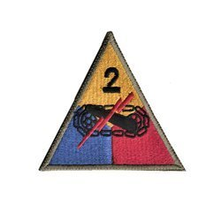 patch of 2nd US Armored Division - repro