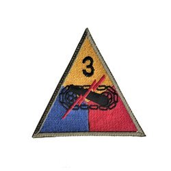 patch of 3rd US Armored Division - repro
