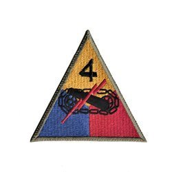 patch of 4th US Armored Division - repro
