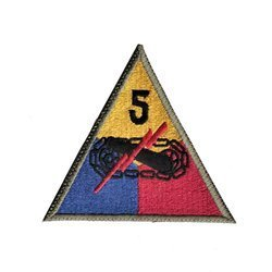patch of 5th US Armored Division - repro