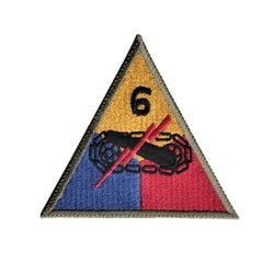 patch of 6th US Armored Division - repro