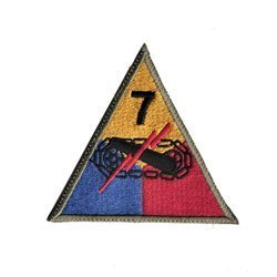 patch of 7th US Armored Division - repro