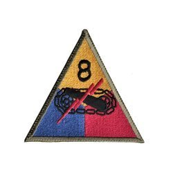 patch of 8th US Armored Division - repro