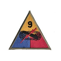patch of 9th US Armored Division - repro