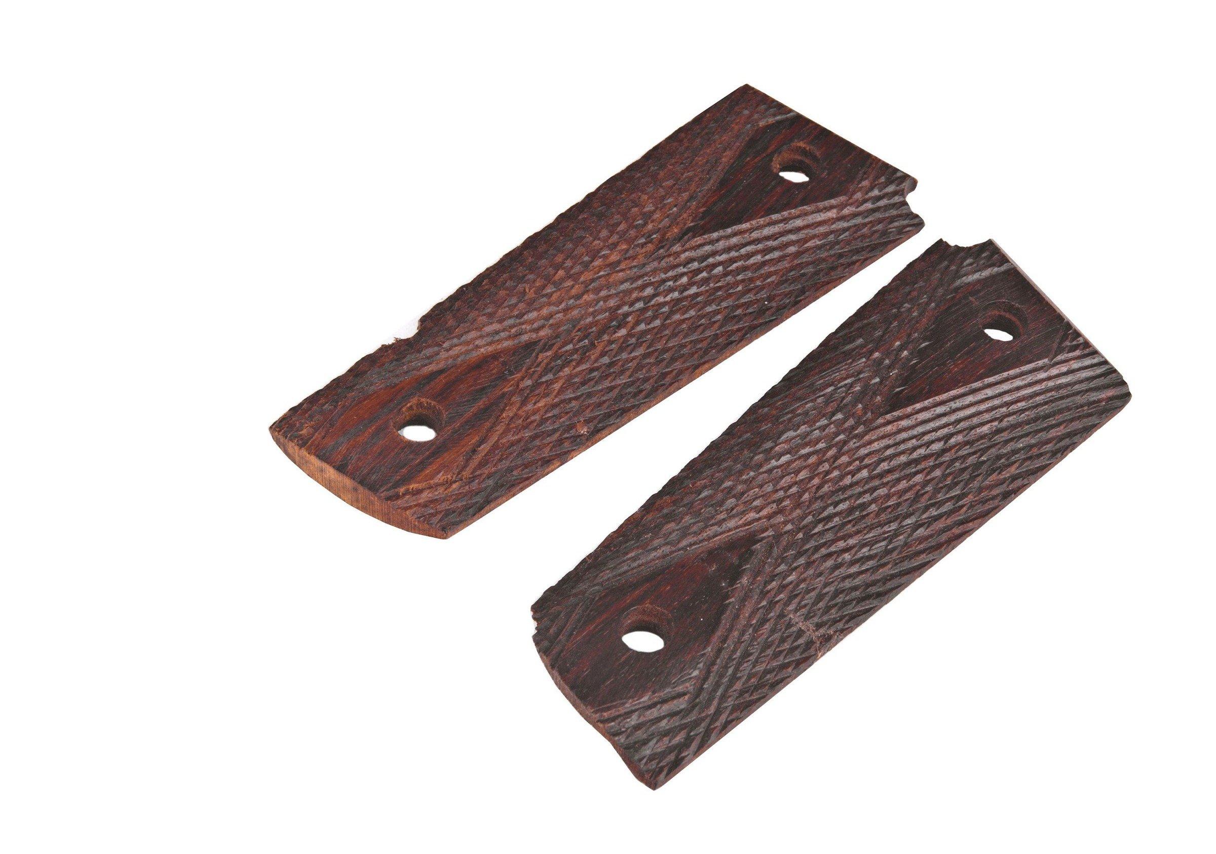 Colt 1911 wood hand grips - set - repro