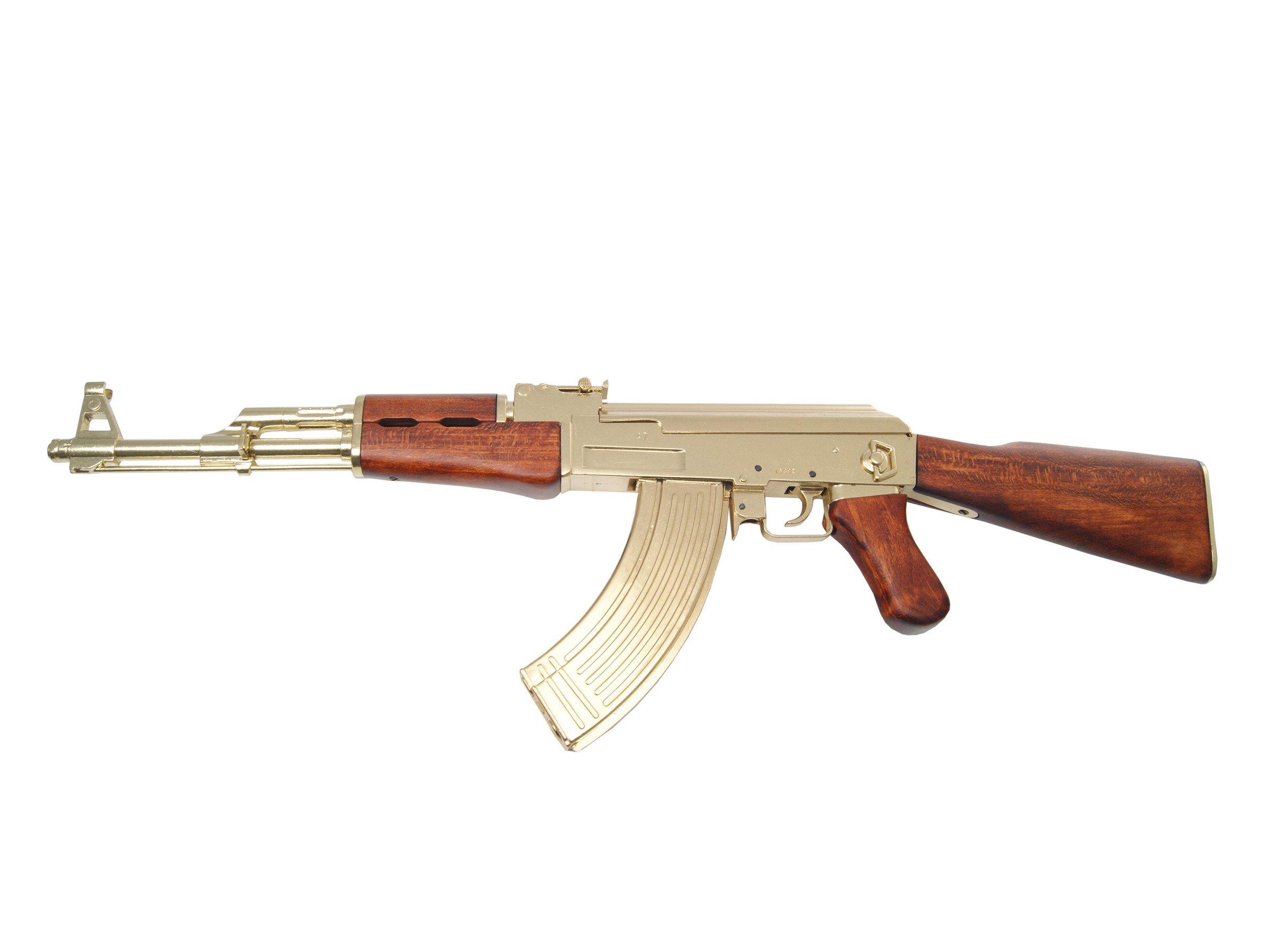 Golden AK-47 assault rifle - model gun 166,25 € | Nestof.pl