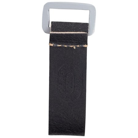 D-ring, rectangle fitting - black, rough side out - repro