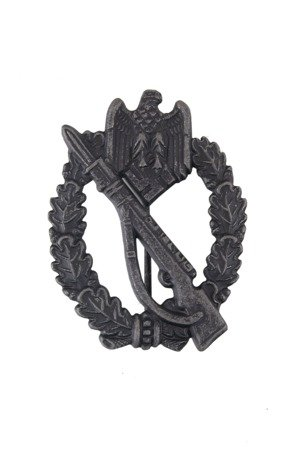 Infantry assault badge - silver - antique effect - repro