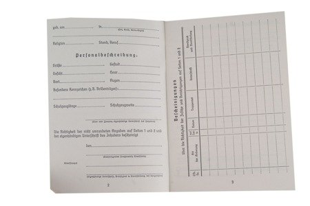 Luftwaffe Soldbuch - repro, unfilled
