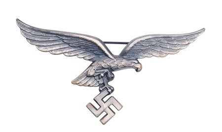 Luftwaffe breast Adler for officers - metal - repro