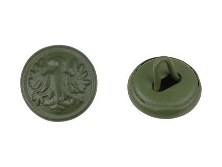 M1943 Polish LWP uniform button, painted - small - 14 mm - repro