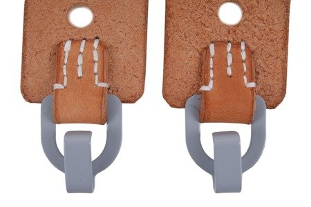 M39 Tornister flaps for Y-straps - brown - pair - repro
