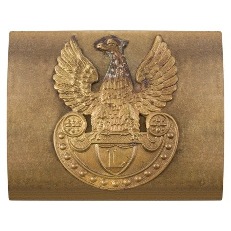 Polish Legions belt buckle, brass version with brass eagle - repro