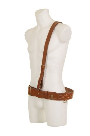 Sam Browne leather officer belt - repro