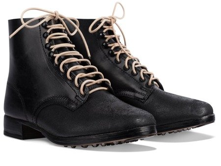Schnurschuhe M37 - WW2 German ankle boots - repro - blackened