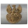 Polish Legions belt buckle, steel version with brass eagle - repro