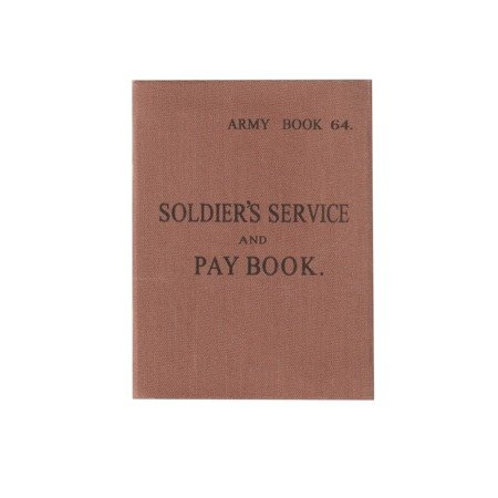 SOLDIER'S SERVICE and PAY BOOK - replika